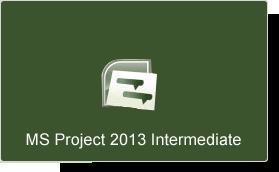 Microsoft Project 2013 Intermediate Training Course