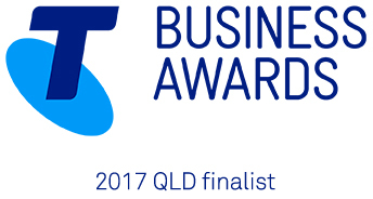 Telstra Business Awards 2017 QLD Finalist logo