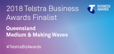 Telstra Business Awards 2018 QLD Finalist logo