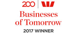 Westpac's 200 Businesses of Tomorrow 2017 Winner logo