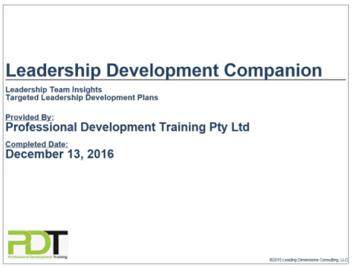 Leadership Development Companion