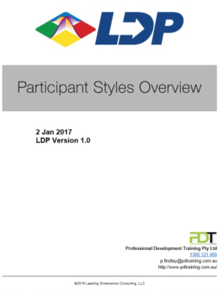 Participant Styles Overview